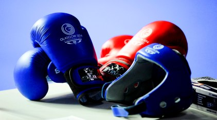 Illustration gants de boxe - 29.07.2014 - Jeux du Commonwealth - Glasgow Photo : Mayhew / Photoshot / Icon Sport *** Local Caption ***